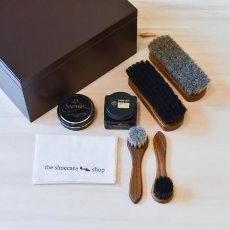 Shoe Care Box Chocolate - Incl. Set