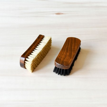 Set of 2 Shine Brushes, 100% boarhair