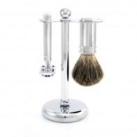 3 Piece Safety Razor Shaving Set by Edwin Jagger - Chrome Lined