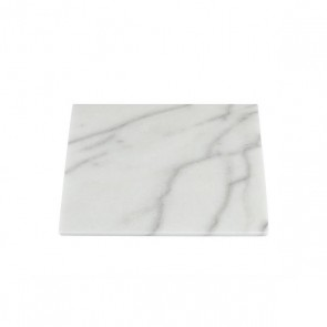 Stoned marble white plate 30x30cm