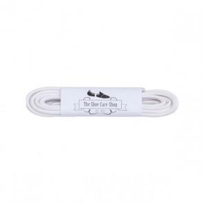 Waxed Shoe Laces - White