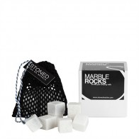 Stoned Marble Cooling Stones - White