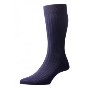 Pantherella Socks - Rib Navy