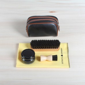 Leather shoe care travelkit