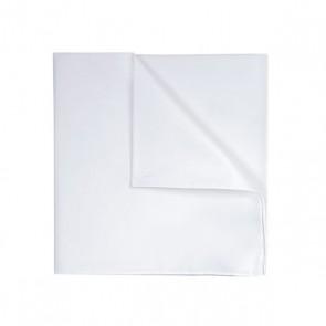 Profuomo Pocket Square - White Twill Cotton