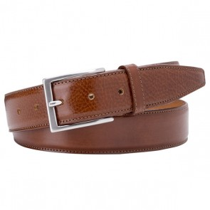 Cognac Calf Leather Belt By Profuomo